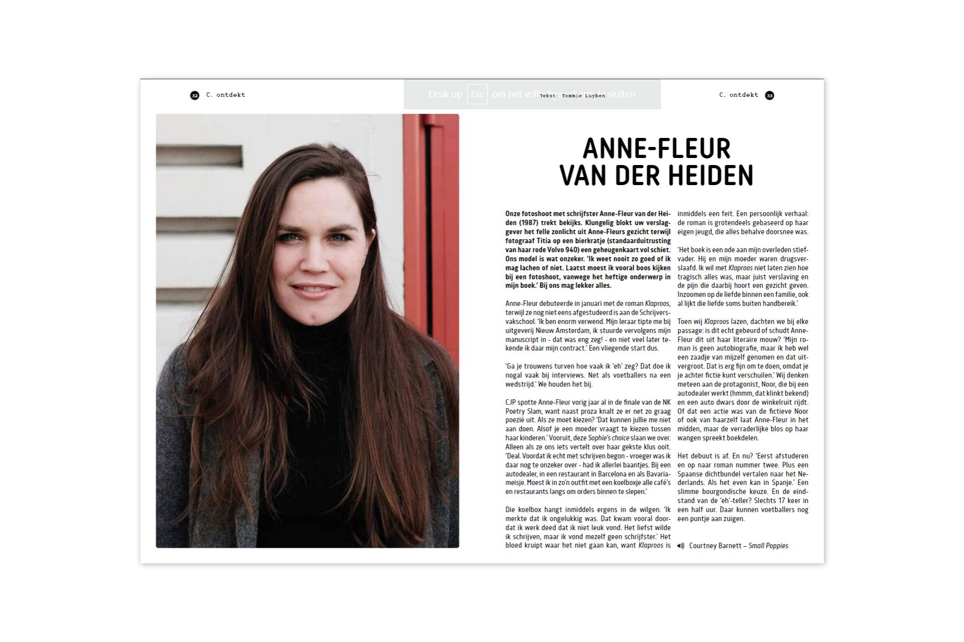 CJP - Anne-Fleur van der Heiden - Klaproos - roman